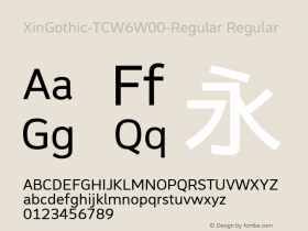 XinGothic-TCW6-Regular