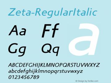 Zeta-RegularItalic