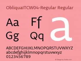 ObliquaITC-Regular