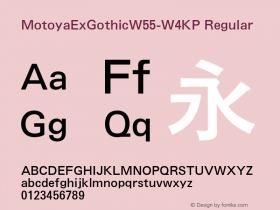 MotoyaExGothic-W4KP