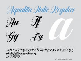 Aqualita Italic