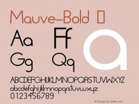 Mauve-Bold