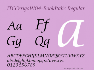 ITCCerigo-BookItalic
