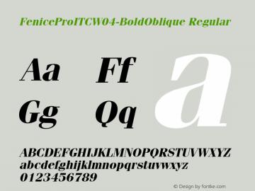 FeniceProITC-BoldOblique