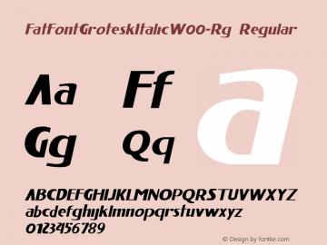 FatFontGroteskItalic-Rg