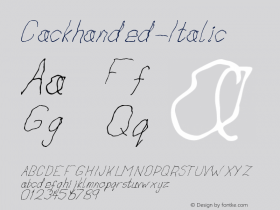 Cackhanded-Italic