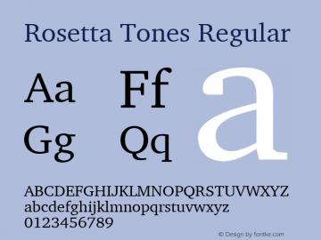 Rosetta Tones