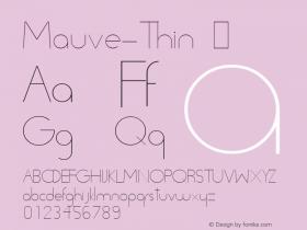 Mauve-Thin