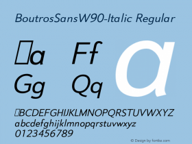 BoutrosSans-Italic