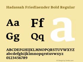 Hadassah Friedlaender Bold