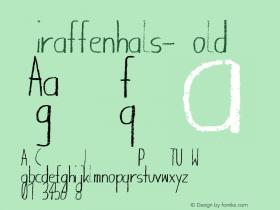 Giraffenhals-Bold