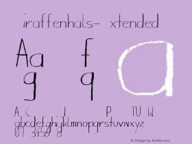 Giraffenhals-Extended