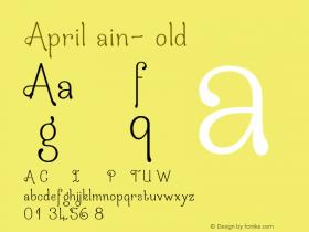 AprilRain-Bold