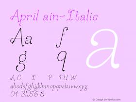 AprilRain-Italic