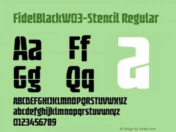 FidelBlack-Stencil