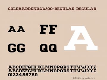 GoldbarreNo4-Regular