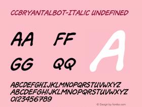 CCBryanTalbot-Italic