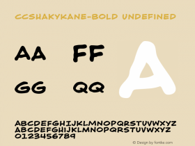 CCShakyKane-Bold