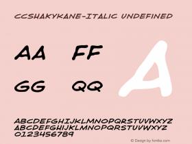 CCShakyKane-Italic