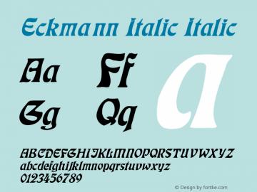 Eckmann Italic