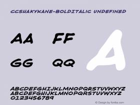CCShakyKane-BoldItalic