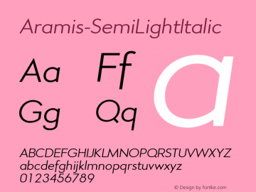 Aramis-SemiLightItalic
