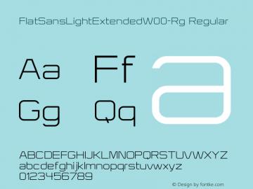 FlatSansLightExtended-Rg