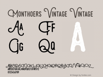 Monthoers Vintage