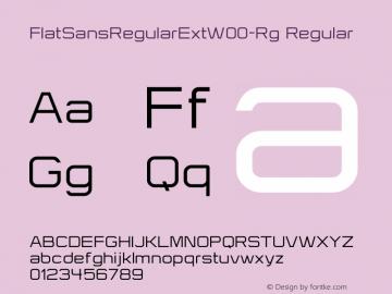 FlatSansRegularExt-Rg