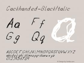 Cackhanded-BlackItalic