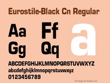 Eurostile-Black Cn