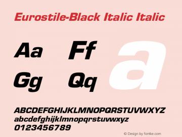 Eurostile-Black Italic