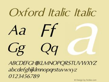 Oxford Italic