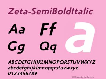 Zeta-SemiBoldItalic