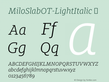 MiloSlabOT-LightItalic