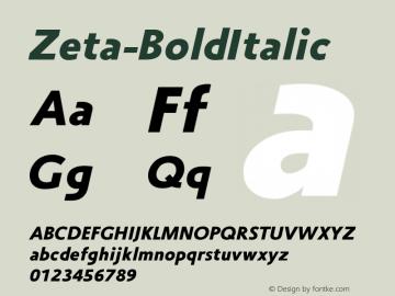 Zeta-BoldItalic