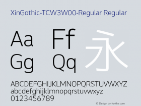 XinGothic-TCW3-Regular