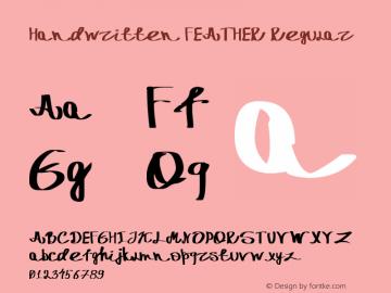 Handwritten FEATHER