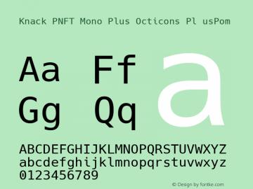 Knack PNFT Mono Plus Octicons Pl