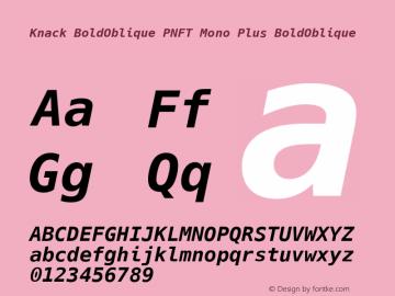 Knack BoldOblique PNFT Mono Plus