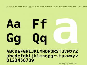 Knack Plus Nerd File Types Plus Font Awesome Plus Octicons Plus Pomicons