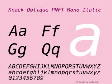 Knack Oblique PNFT Mono