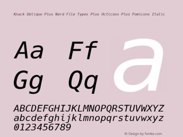 Knack Oblique Plus Nerd File Types Plus Octicons Plus Pomicons