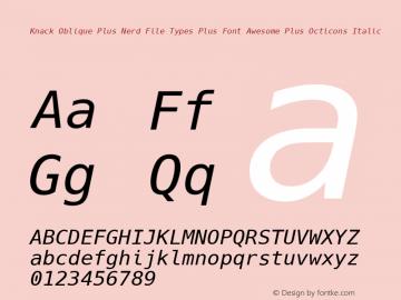 Knack Oblique Plus Nerd File Types Plus Font Awesome Plus Octicons