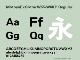 MotoyaExGothic-W6KP