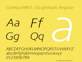 Coleface-33LightItalic