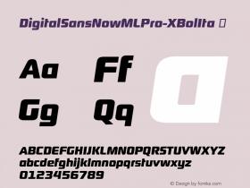 DigitalSansNowMLPro-XBolIta
