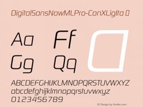 DigitalSansNowMLPro-ConXLigIta