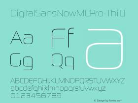 DigitalSansNowMLPro-Thi