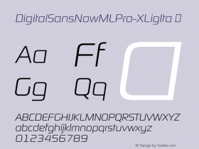 DigitalSansNowMLPro-XLigIta